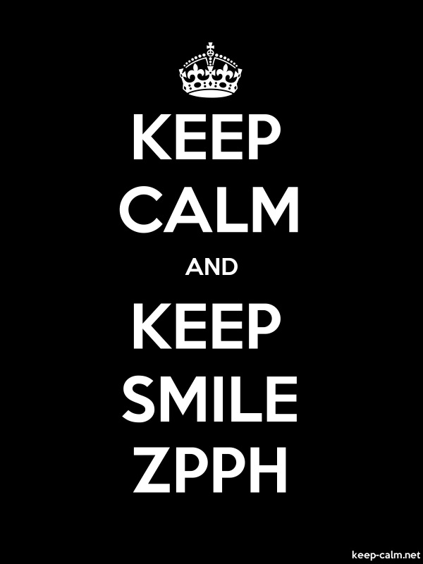 KEEP CALM AND KEEP SMILE ZPPH - white/black - Default (600x800)