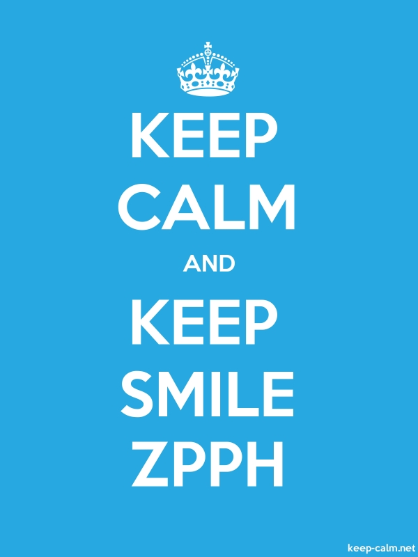 KEEP CALM AND KEEP SMILE ZPPH - white/blue - Default (600x800)