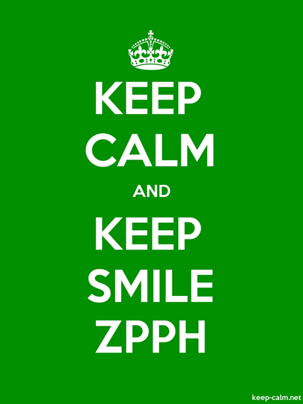KEEP CALM AND KEEP SMILE ZPPH - white/green - Default (600x800)