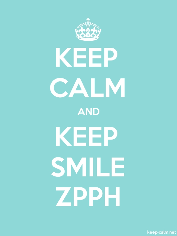 KEEP CALM AND KEEP SMILE ZPPH - white/lightblue - Default (600x800)