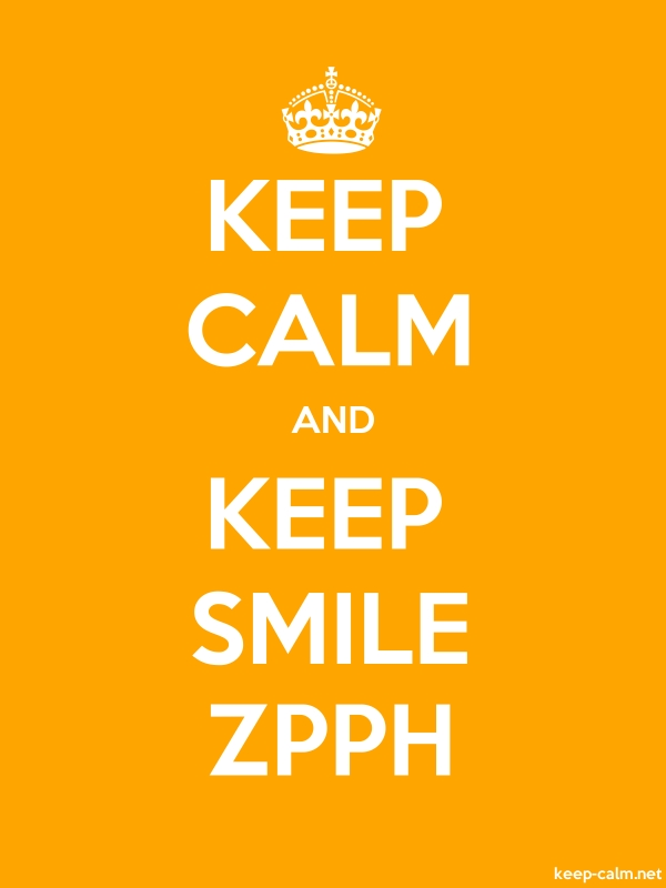 KEEP CALM AND KEEP SMILE ZPPH - white/orange - Default (600x800)