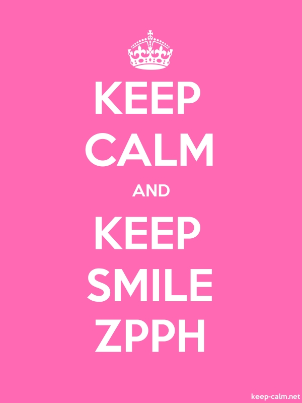 KEEP CALM AND KEEP SMILE ZPPH - white/pink - Default (600x800)