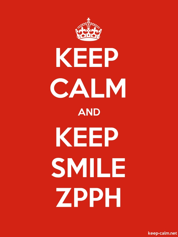 KEEP CALM AND KEEP SMILE ZPPH - white/red - Default (600x800)