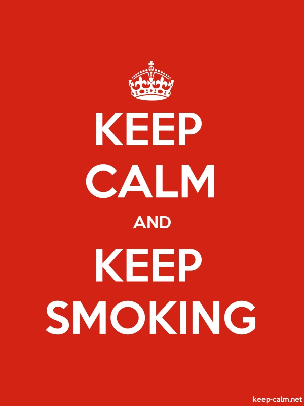 KEEP CALM AND KEEP SMOKING - white/red - Default (600x800)