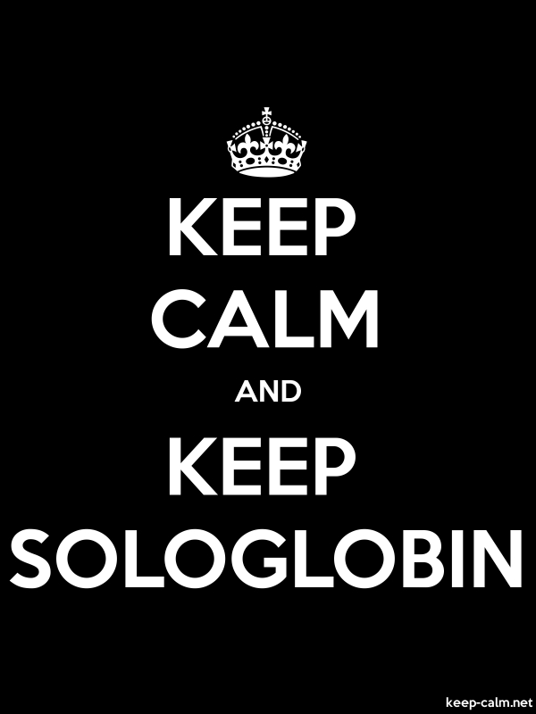 KEEP CALM AND KEEP SOLOGLOBIN - white/black - Default (600x800)