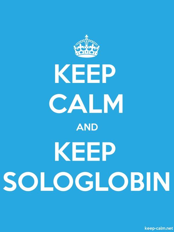 KEEP CALM AND KEEP SOLOGLOBIN - white/blue - Default (600x800)