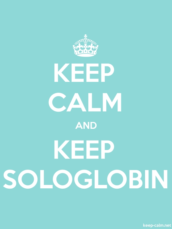 KEEP CALM AND KEEP SOLOGLOBIN - white/lightblue - Default (600x800)