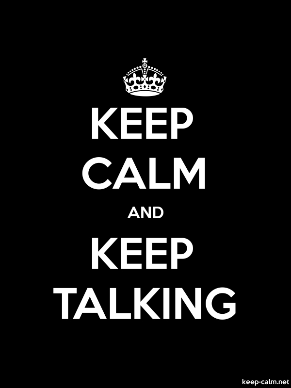 KEEP CALM AND KEEP TALKING - white/black - Default (600x800)