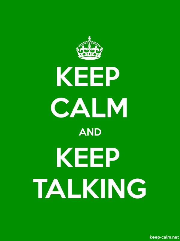 KEEP CALM AND KEEP TALKING - white/green - Default (600x800)