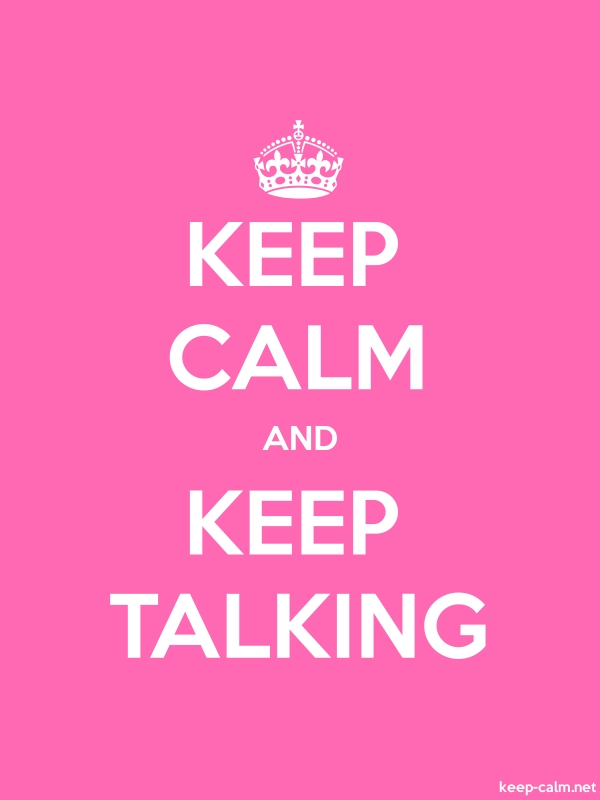 KEEP CALM AND KEEP TALKING - white/pink - Default (600x800)