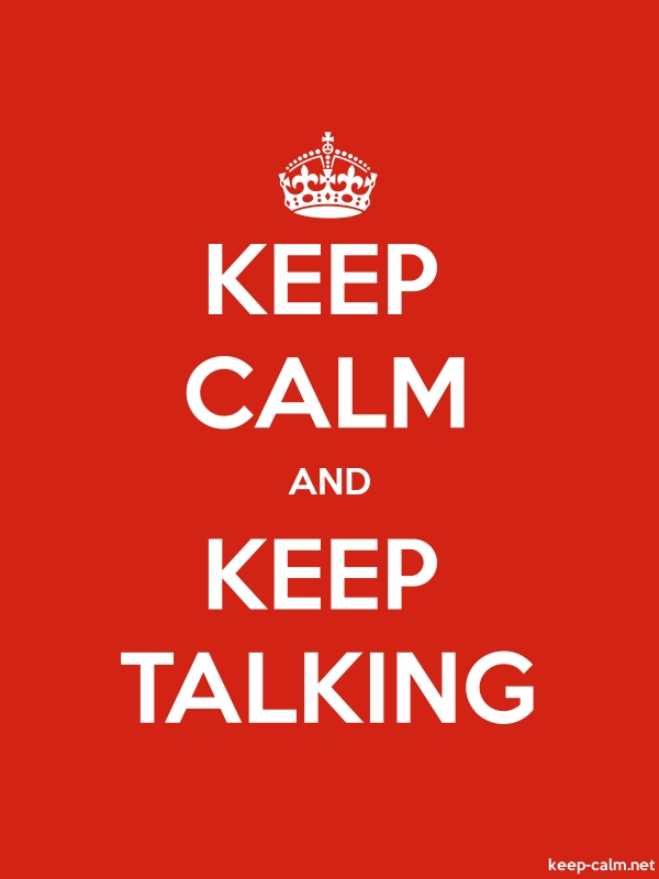KEEP CALM AND KEEP TALKING - white/red - Default (600x800)
