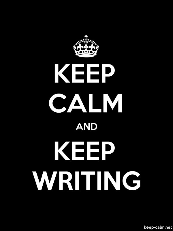 KEEP CALM AND KEEP WRITING - white/black - Default (600x800)
