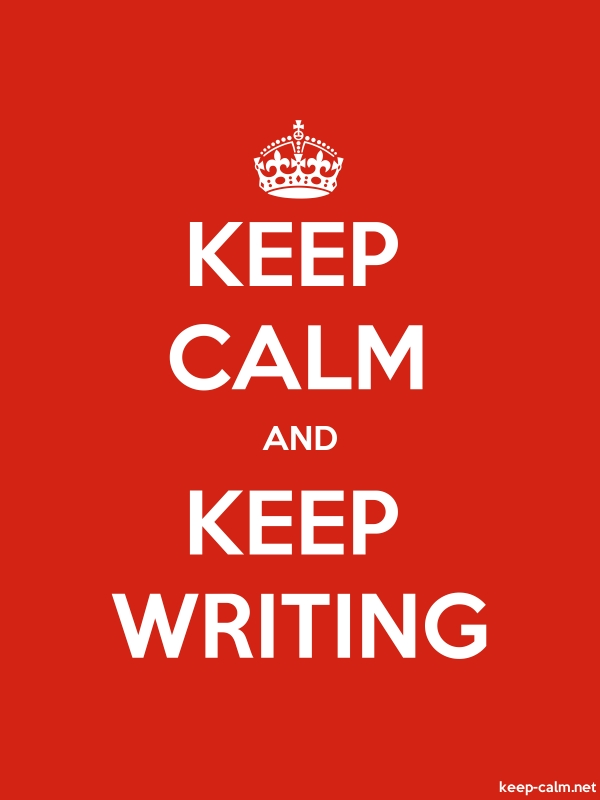 KEEP CALM AND KEEP WRITING - white/red - Default (600x800)