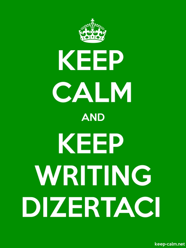 KEEP CALM AND KEEP WRITING DIZERTACI - white/green - Default (600x800)