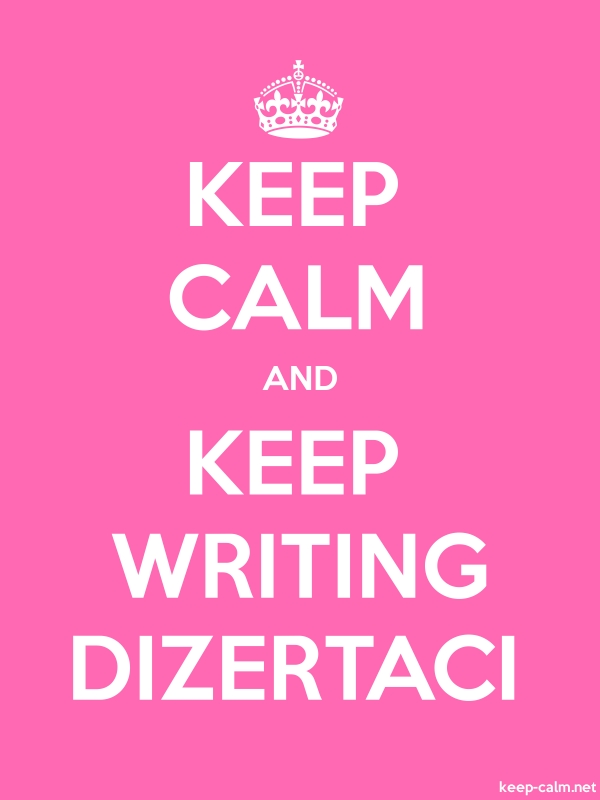 KEEP CALM AND KEEP WRITING DIZERTACI - white/pink - Default (600x800)