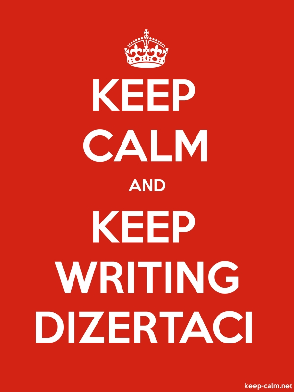 KEEP CALM AND KEEP WRITING DIZERTACI - white/red - Default (600x800)