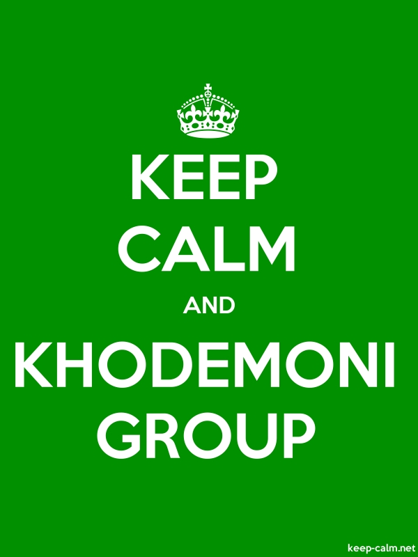 KEEP CALM AND KHODEMONI GROUP - white/green - Default (600x800)