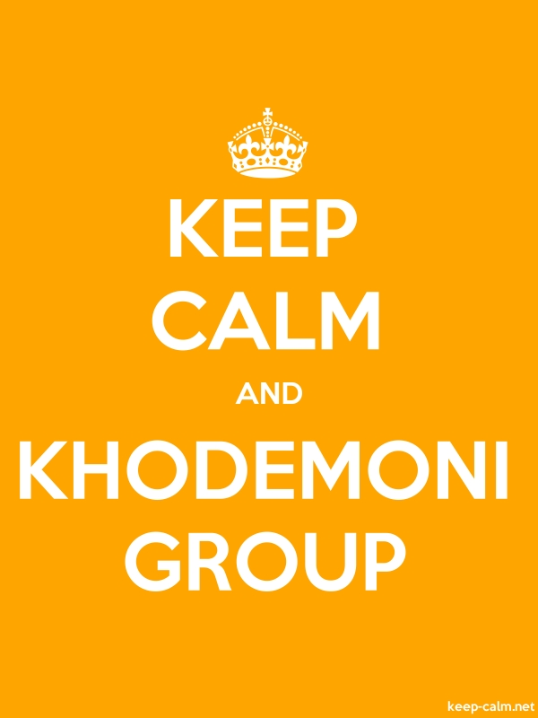 KEEP CALM AND KHODEMONI GROUP - white/orange - Default (600x800)