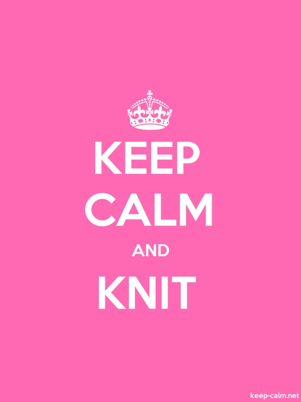 KEEP CALM AND KNIT - white/pink - Default (600x800)