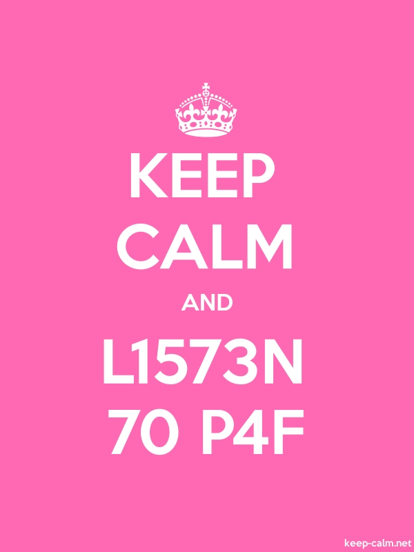 KEEP CALM AND L1573N 70 P4F - white/pink - Default (600x800)