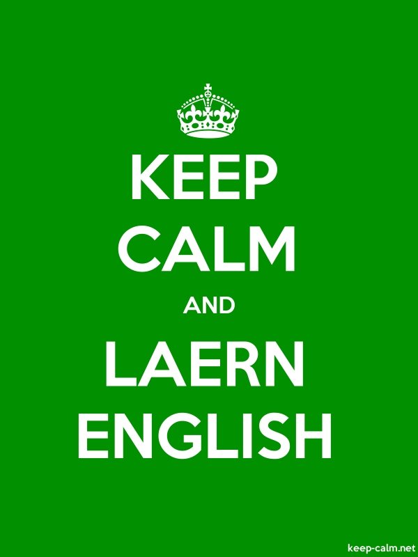 KEEP CALM AND LAERN ENGLISH - white/green - Default (600x800)