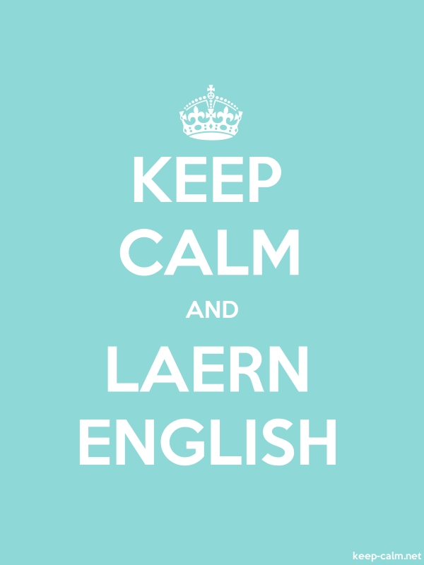 KEEP CALM AND LAERN ENGLISH - white/lightblue - Default (600x800)