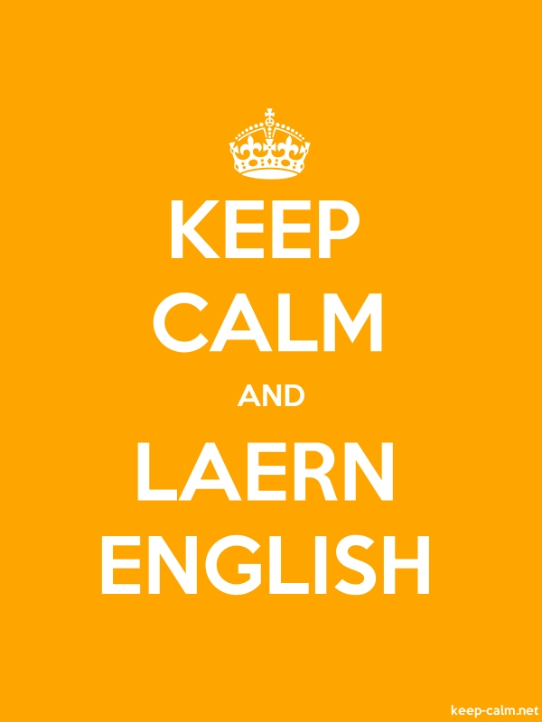 KEEP CALM AND LAERN ENGLISH - white/orange - Default (600x800)