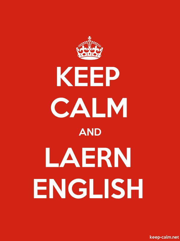KEEP CALM AND LAERN ENGLISH - white/red - Default (600x800)