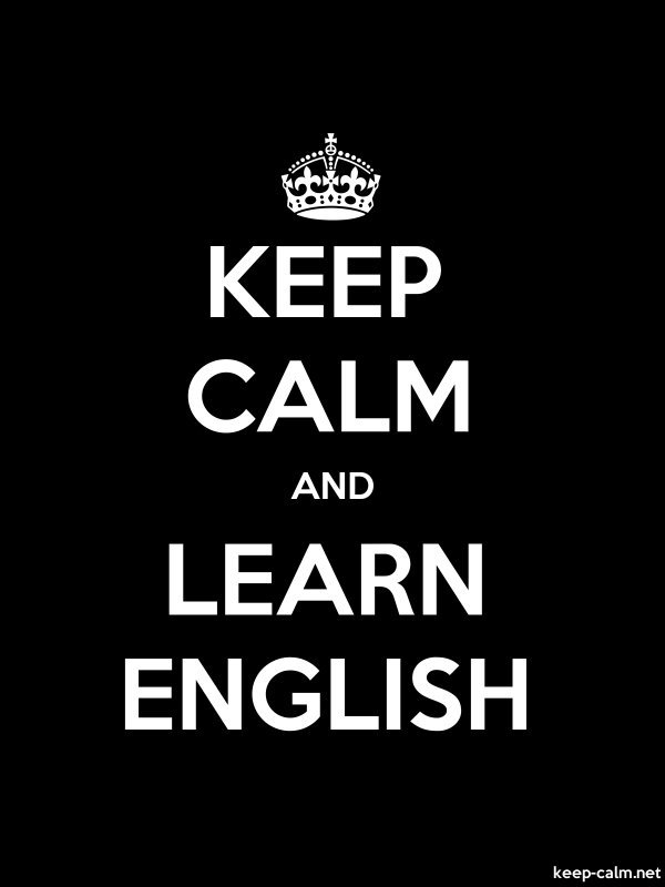 KEEP CALM AND LEARN ENGLISH - white/black - Default (600x800)