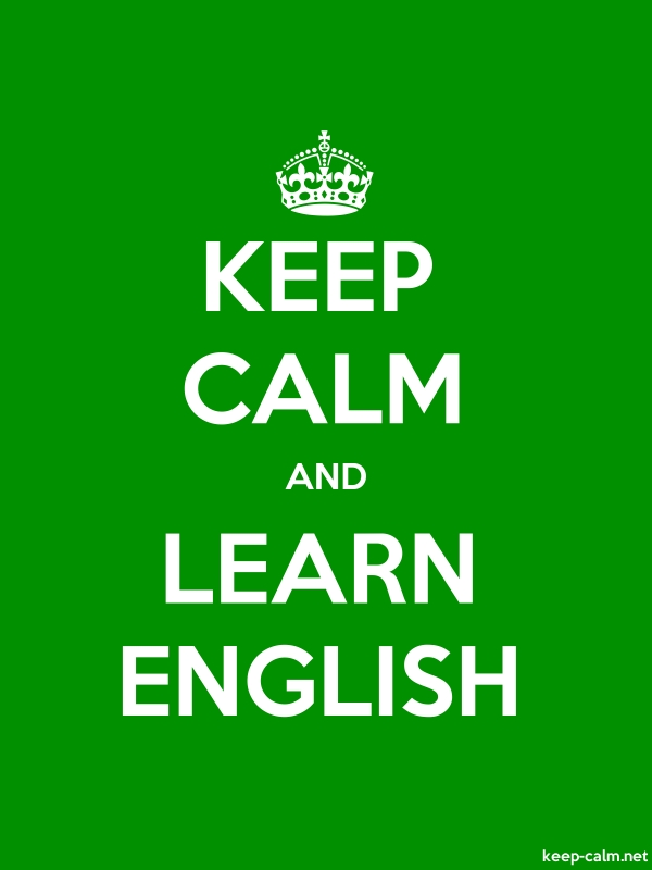 KEEP CALM AND LEARN ENGLISH - white/green - Default (600x800)