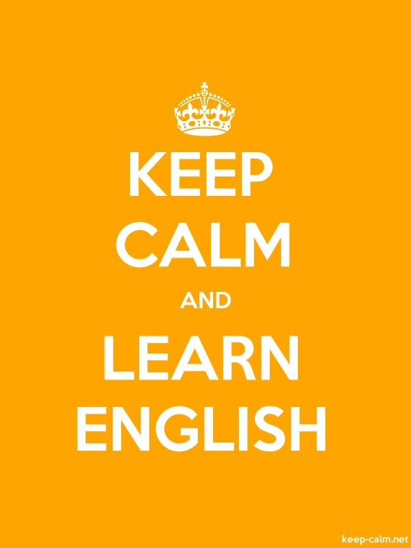 KEEP CALM AND LEARN ENGLISH - white/orange - Default (600x800)