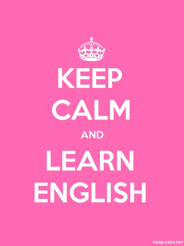 KEEP CALM AND LEARN ENGLISH - white/pink - Default (600x800)