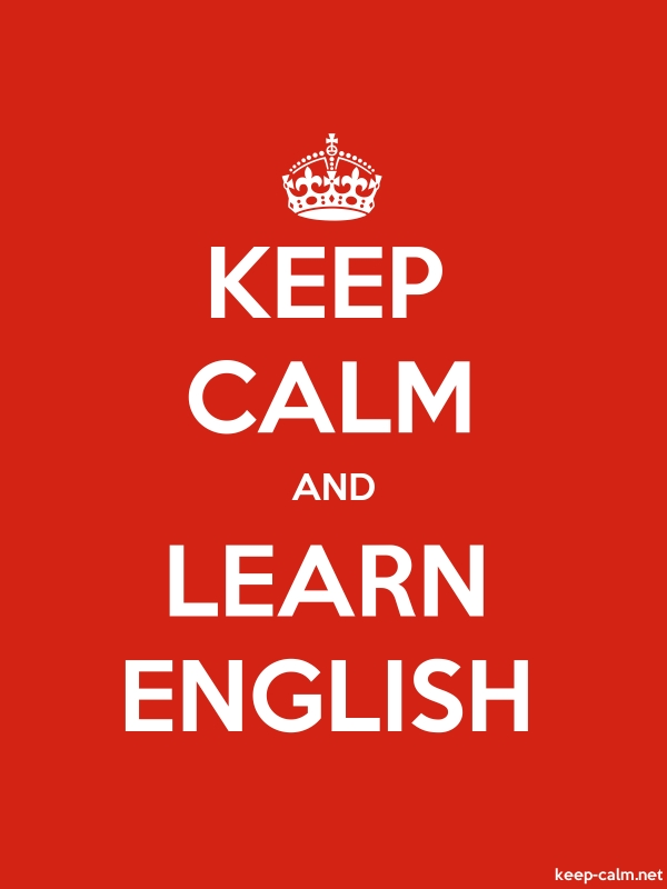 KEEP CALM AND LEARN ENGLISH - white/red - Default (600x800)