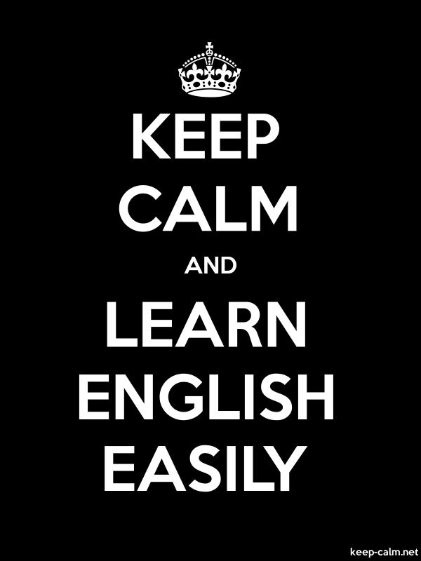 KEEP CALM AND LEARN ENGLISH EASILY - white/black - Default (600x800)