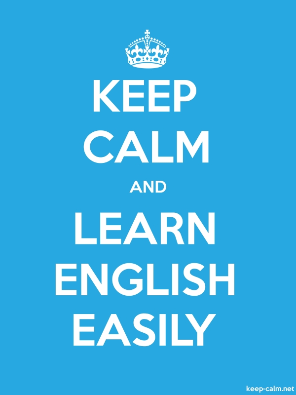 KEEP CALM AND LEARN ENGLISH EASILY - white/blue - Default (600x800)