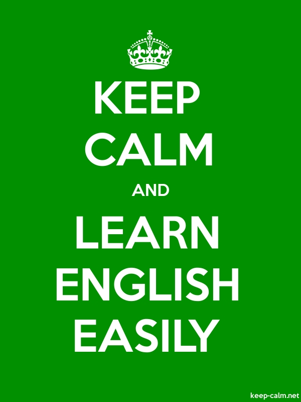 KEEP CALM AND LEARN ENGLISH EASILY - white/green - Default (600x800)