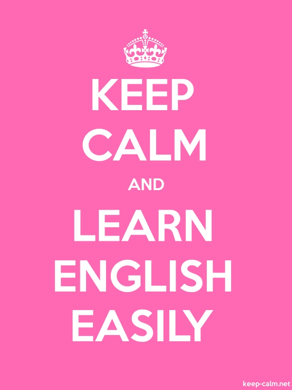 KEEP CALM AND LEARN ENGLISH EASILY - white/pink - Default (600x800)