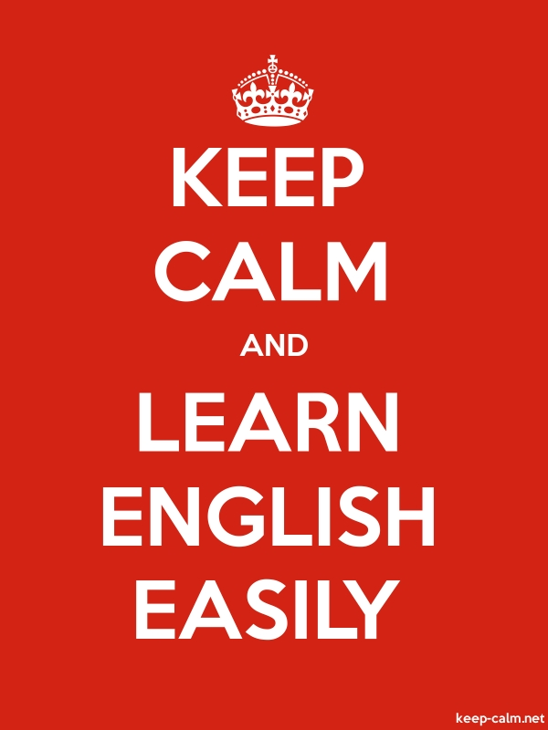 KEEP CALM AND LEARN ENGLISH EASILY - white/red - Default (600x800)