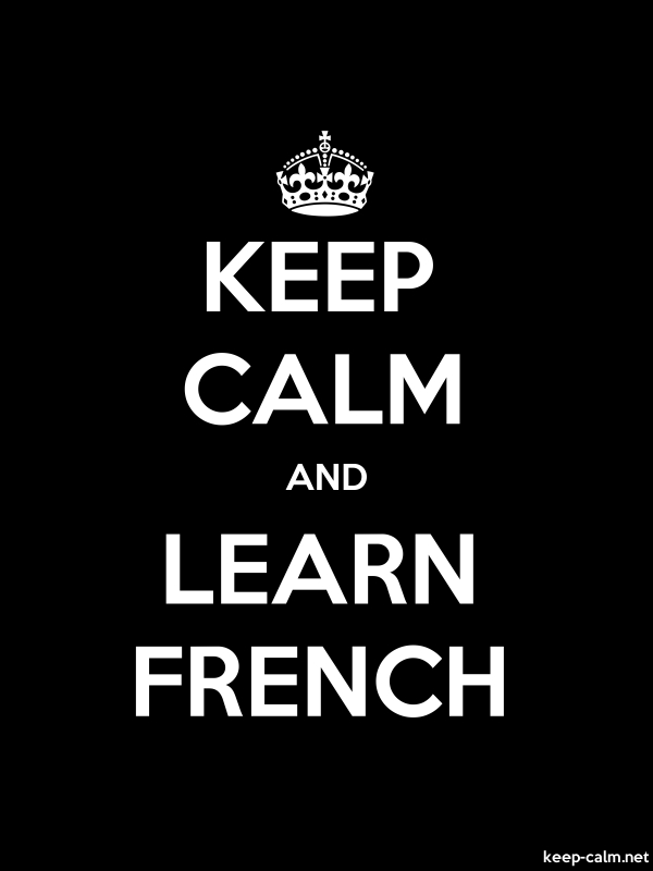 KEEP CALM AND LEARN FRENCH - white/black - Default (600x800)