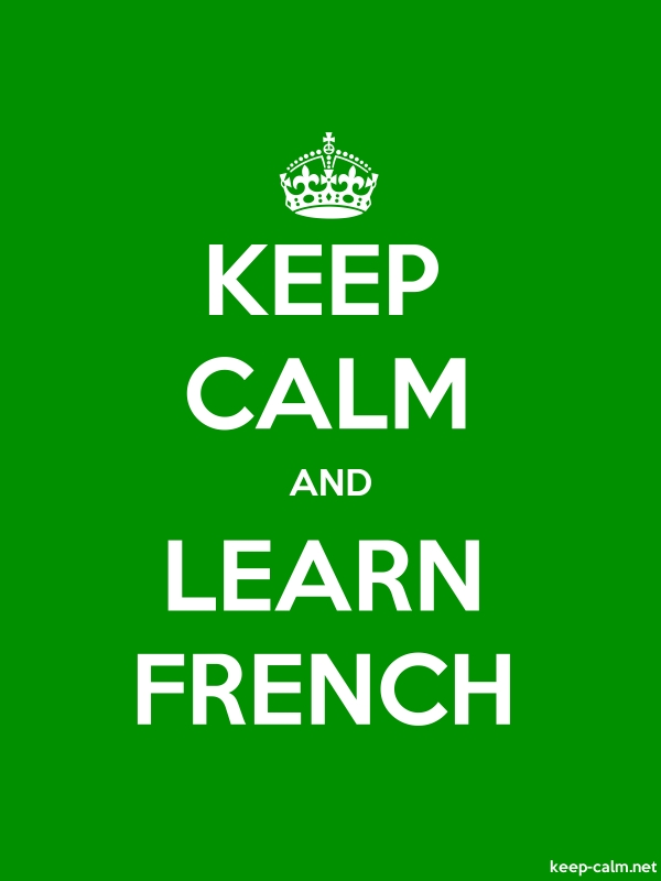 KEEP CALM AND LEARN FRENCH - white/green - Default (600x800)