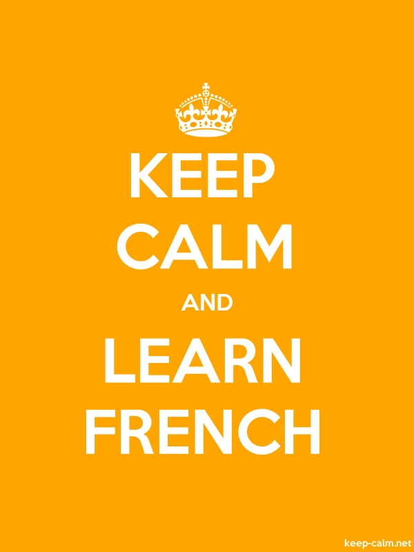 KEEP CALM AND LEARN FRENCH - white/orange - Default (600x800)