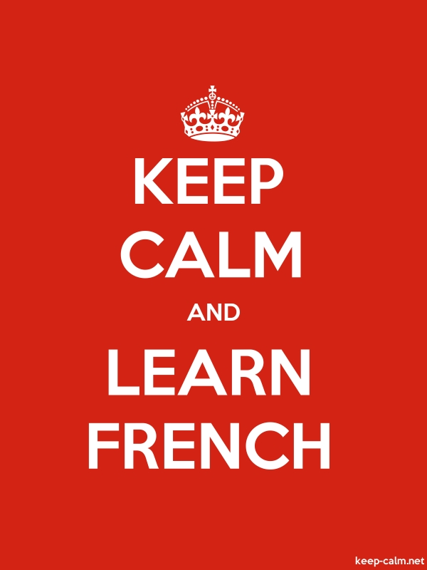KEEP CALM AND LEARN FRENCH - white/red - Default (600x800)
