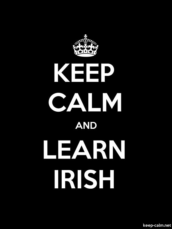 KEEP CALM AND LEARN IRISH - white/black - Default (600x800)