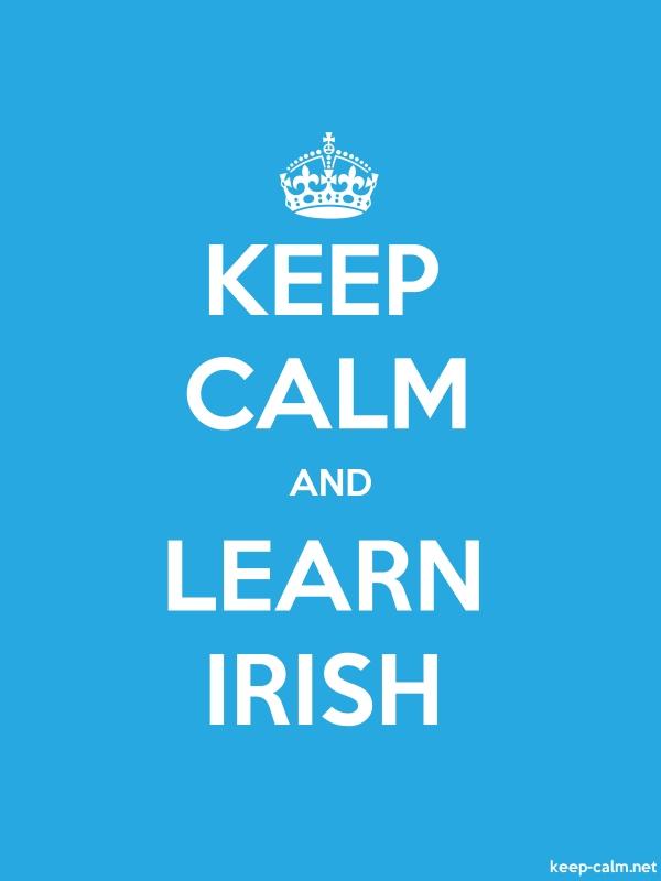 KEEP CALM AND LEARN IRISH - white/blue - Default (600x800)
