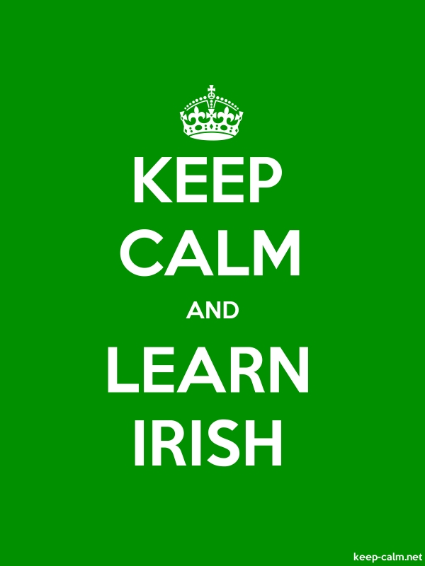 KEEP CALM AND LEARN IRISH - white/green - Default (600x800)