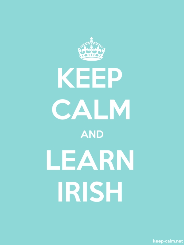 KEEP CALM AND LEARN IRISH - white/lightblue - Default (600x800)