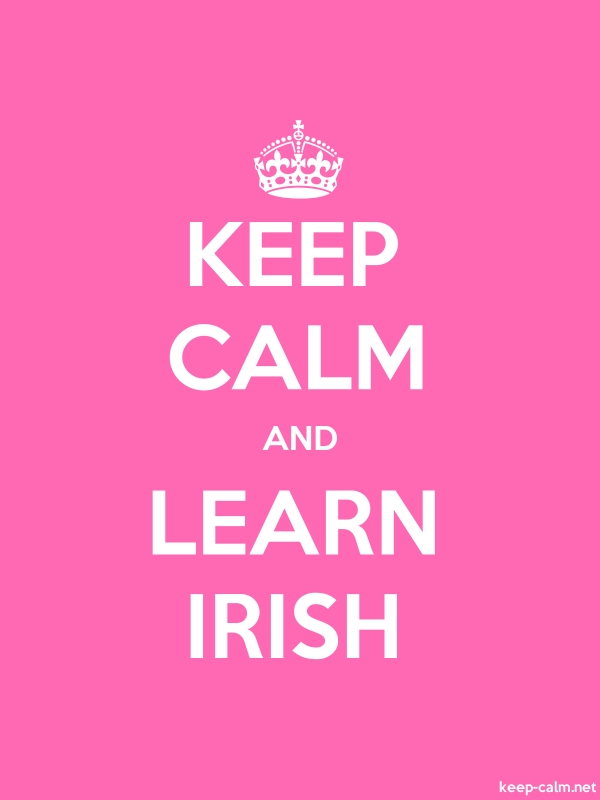KEEP CALM AND LEARN IRISH - white/pink - Default (600x800)