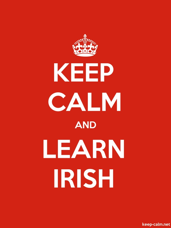 KEEP CALM AND LEARN IRISH - white/red - Default (600x800)