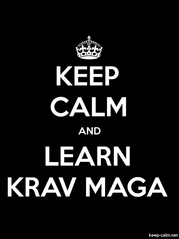KEEP CALM AND LEARN KRAV MAGA - white/black - Default (600x800)