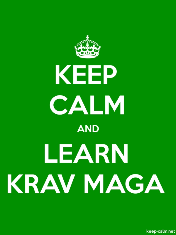 KEEP CALM AND LEARN KRAV MAGA - white/green - Default (600x800)